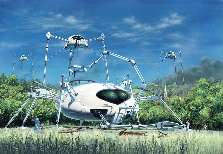 WAR OF THE WORLDS by Peter Elson, Science Fiction Illustrator